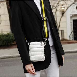 The Cell Bag in White Patent