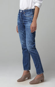 Charlotte High Rise Straight Leg Jean in Hold On