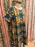 Load image into Gallery viewer, Short Sleeve Checked Dress in Multi