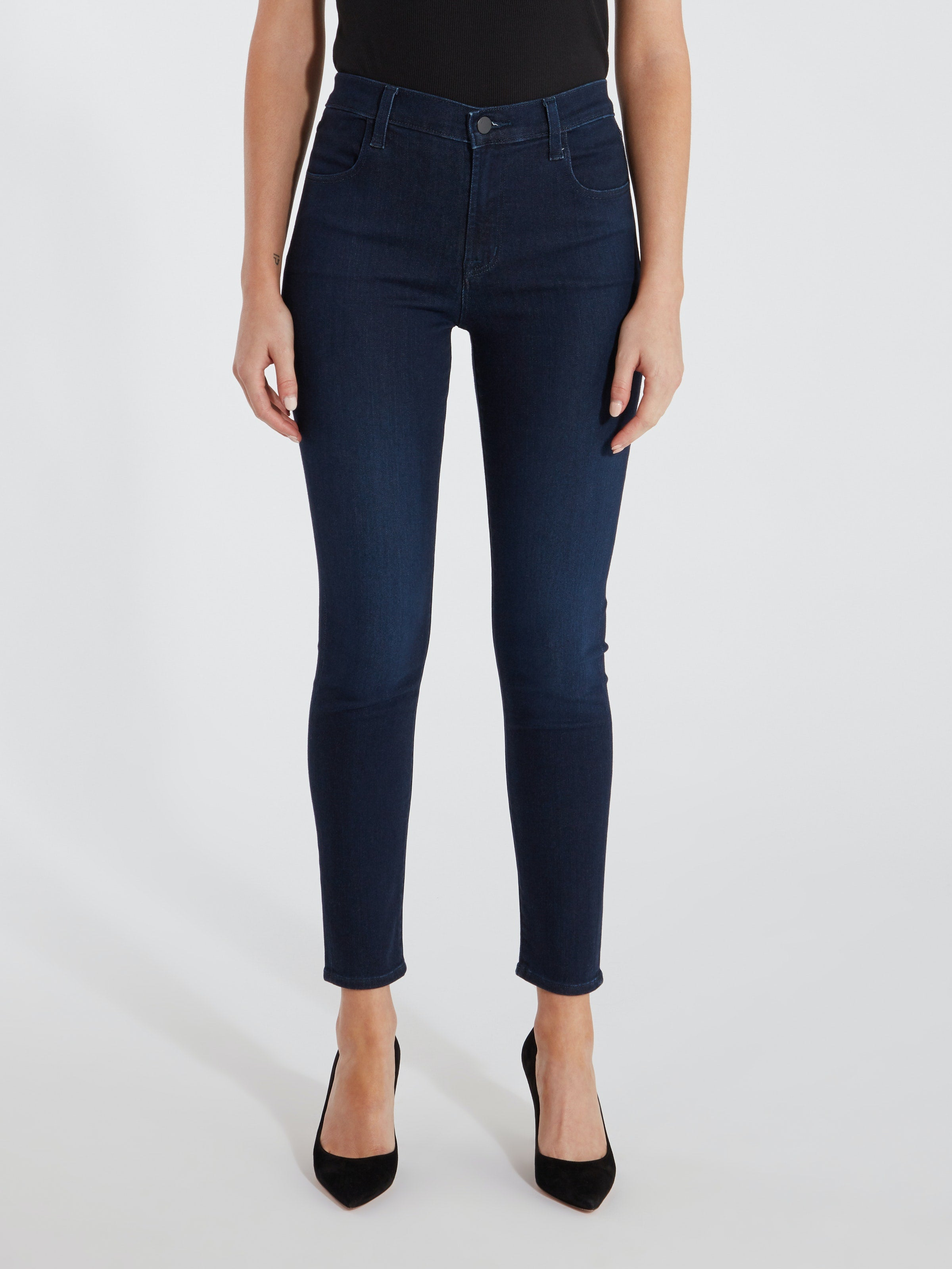 Alana High Rise Skinny Ankle Jean in Chroma