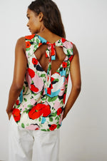 Load image into Gallery viewer, Claudette Sleeveless Top in Posey Print