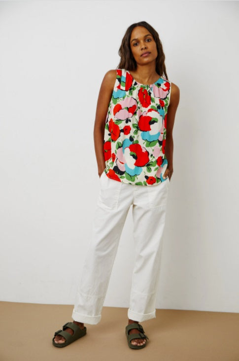 Claudette Sleeveless Top in Posey Print