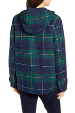 Load image into Gallery viewer, Coast Waterproof Rain Jacket in Green Plaid