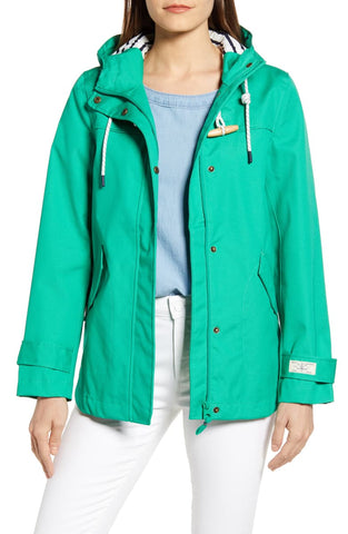 Coast Waterproof Rain Jacket in Bright Green