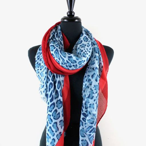 Jaguar Color Block Scarf in Blue