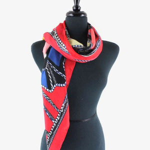 Horse Scarf in Red