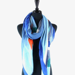 Puzzling Scarf in Blue