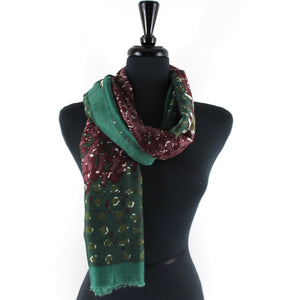 Abstract Scarf in Green