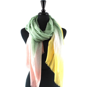 Prism Stars Scarf in Moss