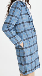 Load image into Gallery viewer, Robyn Plaid Coat in Coronet Blue