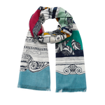 Load image into Gallery viewer, Curiosite Scarf in Turquoise