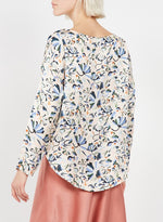 Load image into Gallery viewer, Cyriane Printed Blouse in Rose Bleu