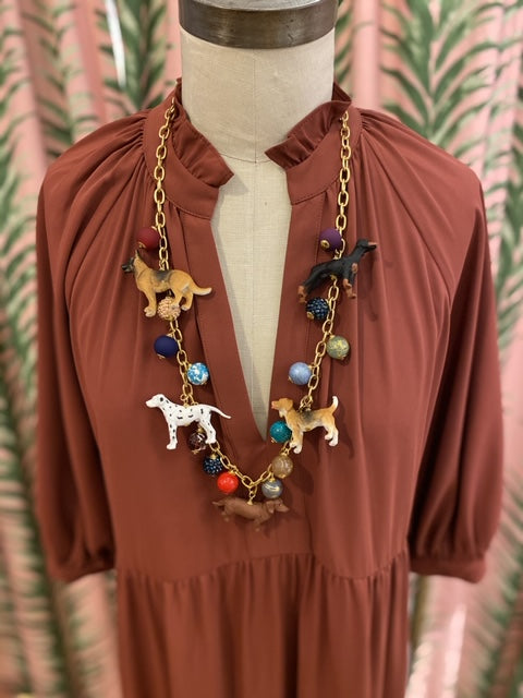 Long Trinket Dog Necklace
