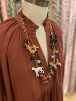 Load image into Gallery viewer, Long Trinket Dog Necklace
