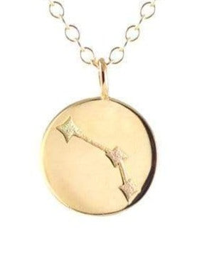 Reversible Zodiac Necklace in Aries