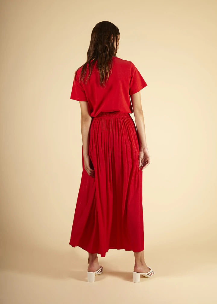 Egle Maxi Skirt in Red