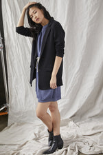 Load image into Gallery viewer, Elle Knit Blazer in Black