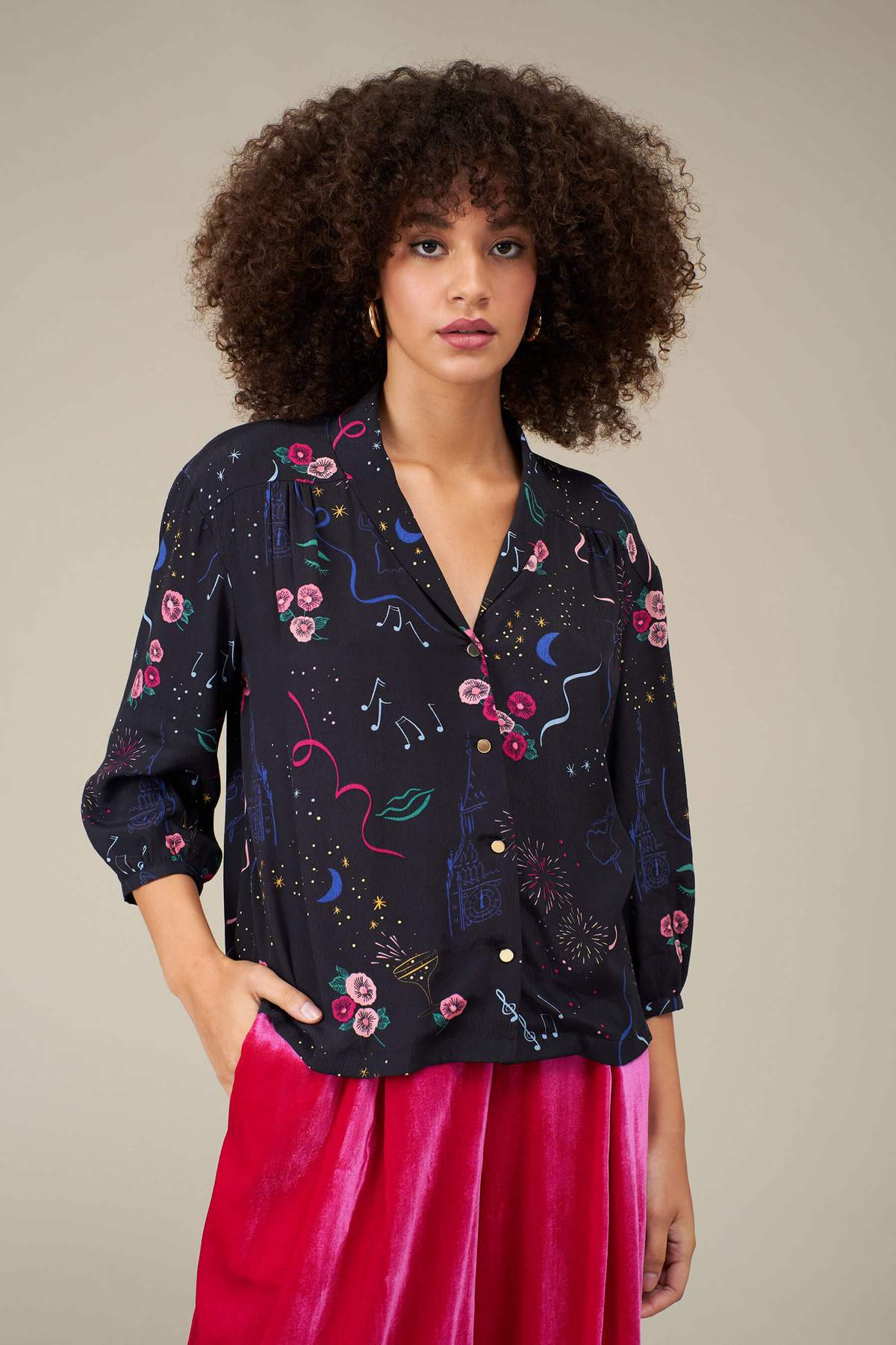 Florrie New Years Party Blouse in Multi