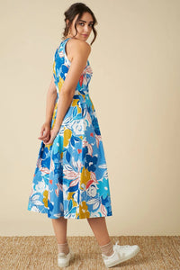 Alyssa Dress in Blue Floral