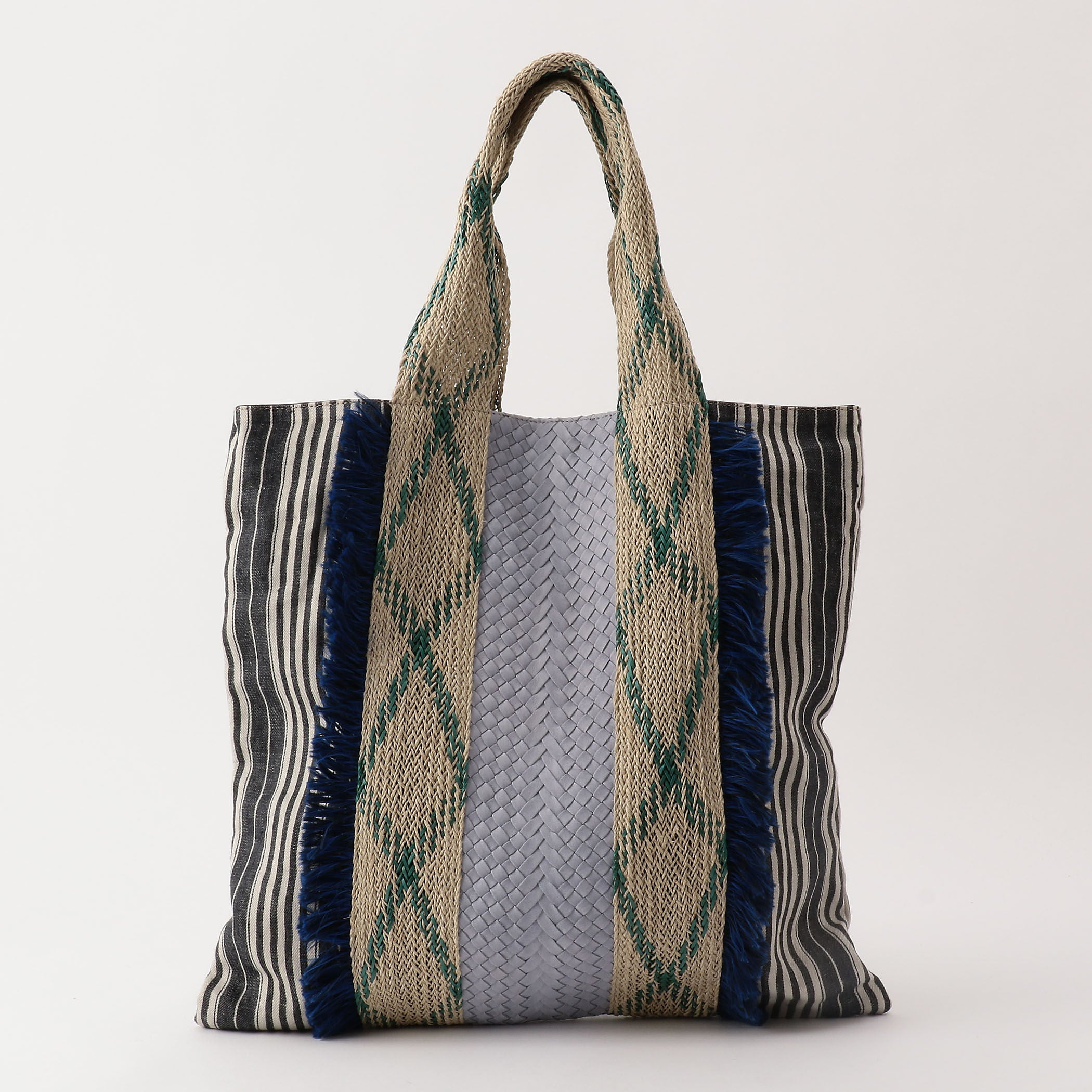 Feria Leather/Linen Tote in Lavender