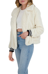 Fleece And Love Jacket in Ivory
