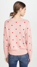 Load image into Gallery viewer, Jolie Sweater in Red and Pink Heart