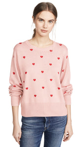 Jolie Sweater in Red and Pink Heart