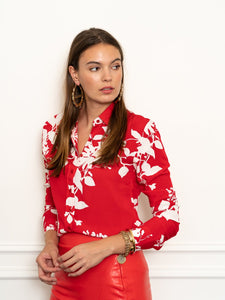 The Icon Shirt in Hula Red