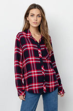 Load image into Gallery viewer, Hunter Plaid Shirt in Twilight Cherry