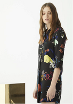 Load image into Gallery viewer, Adrian Shirt Dress in Quirky Polar Bear