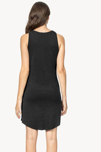 High Neck Tank Dress in Black
