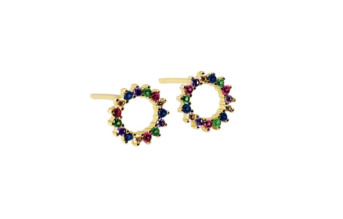 Rainbow Outline Studs