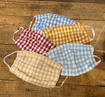 Load image into Gallery viewer, Taylor Home Gingham Mask in Bisque