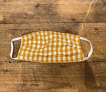 Load image into Gallery viewer, Taylor Home Gingham Mask in Mustard