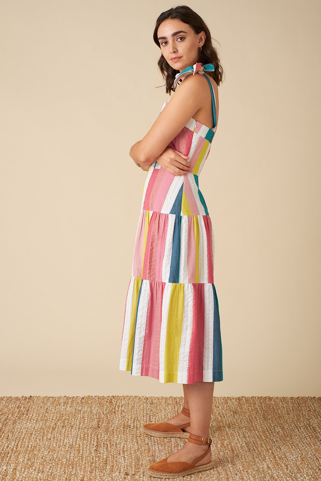 Iona Rainbow Stripe Dress