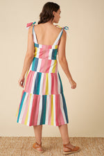 Load image into Gallery viewer, Iona Rainbow Stripe Dress