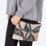 Load image into Gallery viewer, Modern Floral Beaded Handbag