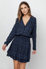 Load image into Gallery viewer, Jasmine Dress in Azure Leopard