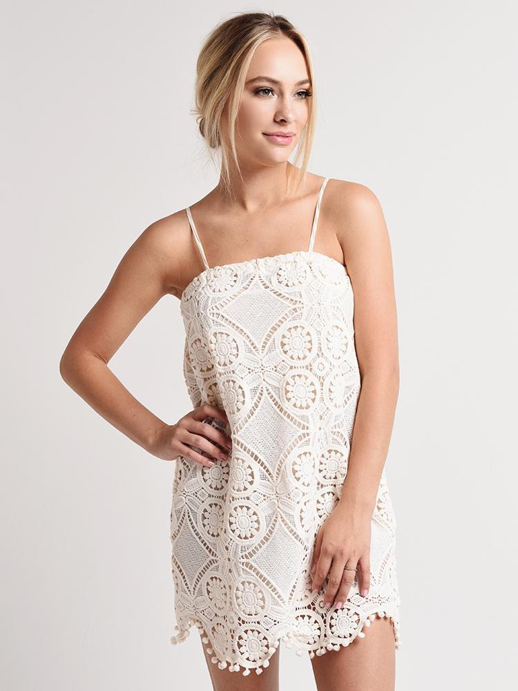 Danna Lace Dress in Ivory