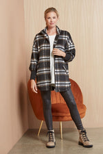 Load image into Gallery viewer, Plaid Times Jacket in Black