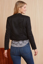 Load image into Gallery viewer, Suede Me Love You Jacket in Black