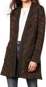 Load image into Gallery viewer, Josephine Cardigan in Black Animal Print