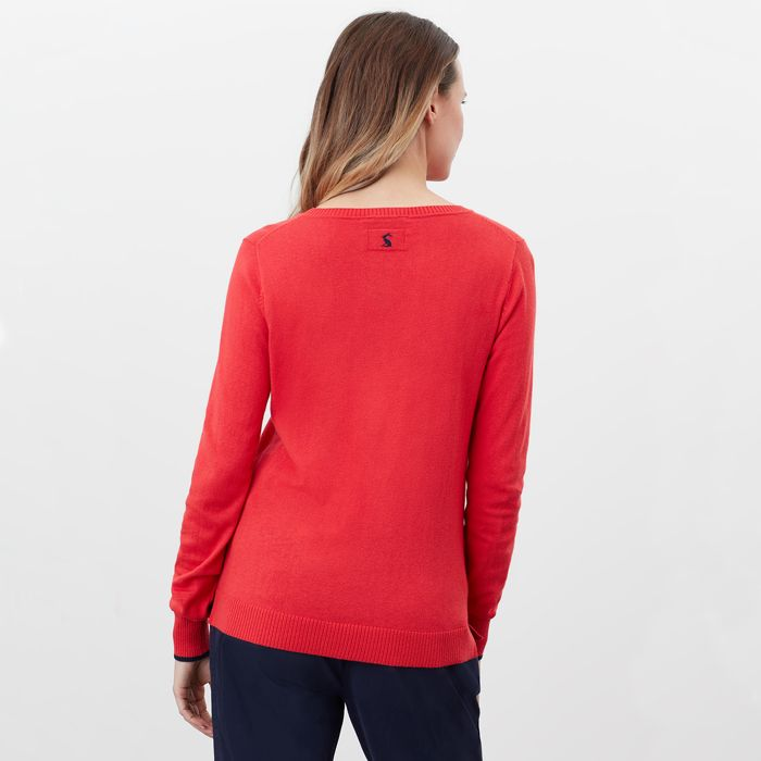 Miranda Sweater in Red Dog