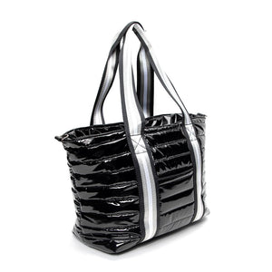 Junior Wingman Bag in Black Patent