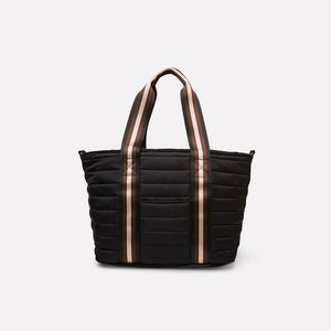 Junior Wingman Bag in Black Noir/Cream