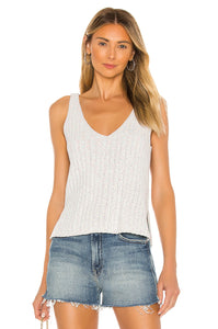 Leah Knit Tank in Marshmallow Combo