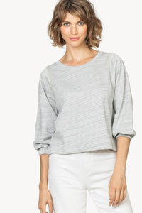 3/4 Sleeve Contrast Stitch Pullover