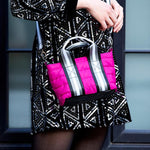 Load image into Gallery viewer, Lil Mama Bag in Fuchsia Noir