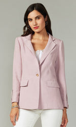Load image into Gallery viewer, Single Button Linen/Tencel Blazer in Lilac