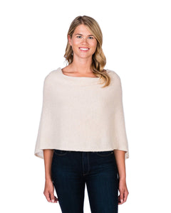 100% Cashmere Dress Topper/Poncho in Dune